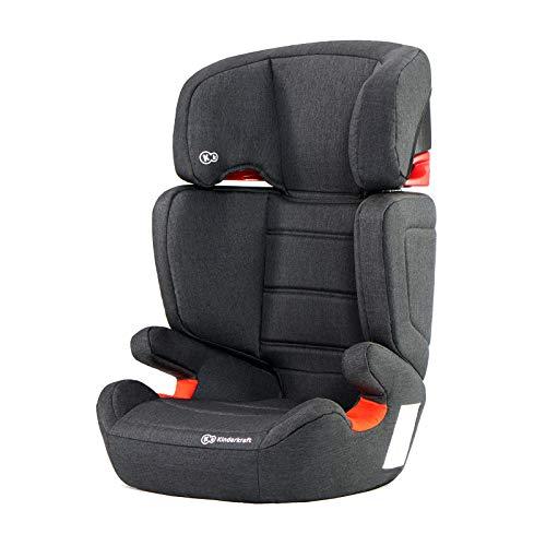 Kinderkraft KKFJUFIBLK0000 Junior Fix Kindersitz Isofix Autokindersitz 15 bis 36 kg gruppe 2 3, schwarz