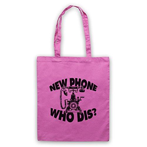 New Phone Who Dis? Funny Slogan Vintage Phone Umhangetaschen Rosa