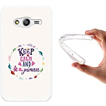 Funda Samsung Galaxy Trend 2 Lite G318H, WoowCase [ Samsung Galaxy Trend 2 Lite G318H ] Funda Silicona Gel Flexible Keep Calm And Be a Princess, Carcasa Case TPU Silicona