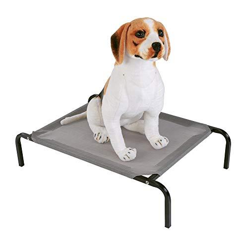 SOULONG Hundebett, atmungsaktiv, mit Netzgewebe, tragbar, für Hunde und Katzen, aus Oxford-Gewebe und Struktur aus Edelstahlrohr, Campingbett für Haustiere