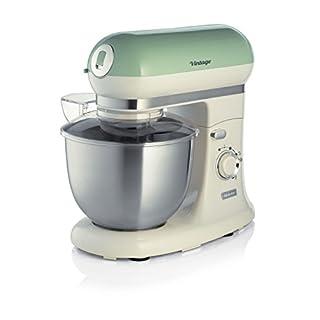 Ariete 1588 Vintage Küchenmaschine mit funktionalem Deckel, 1000 W, 5,5 L, 10 Geschwindigkeitsstufen, Pulse-Funktion grün