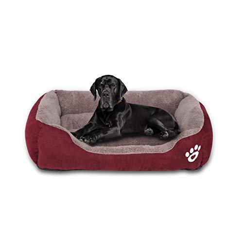 FRISTONE Hundebett Groß Katzenbett Weich Hundesofa für Kleine Mittelgroße Hunde Waschbar Hundekörbchen m l XL XXL Grau Rot Schwarz -