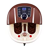 Massaggiatore per pediluvio con calore, rullo shiatsu motorizzato 16 pedicure spa,...