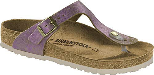 BIRKENSTOCK Gizeh Damen Zehentrenner Kork,Frauen,metallic,Sandale, Vintage-Look,Washed Metallic Pink,35 35