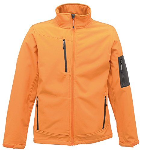 Frauen Arcola 3 Lagen Softshell Sun Orange / Grau Siegel