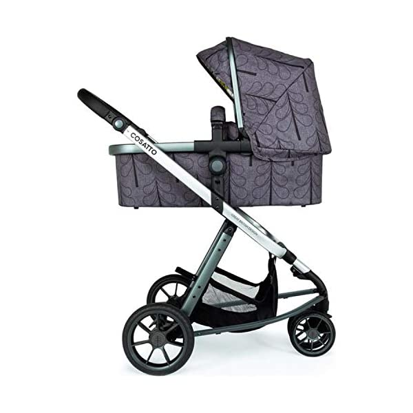 Cosatto Giggle 3 Pram & Pushchair Fika Forest Cosatto Enhanced performance. unique tyre material and all-round premium suspension give air-soft feel. Comfy all-round. spacious carrycot for growing babies.  washable liner. reversible reclining seat. Nippy 3-wheeler. sporty, streamlined manoeuvrability helps negotiate tight spots. 1