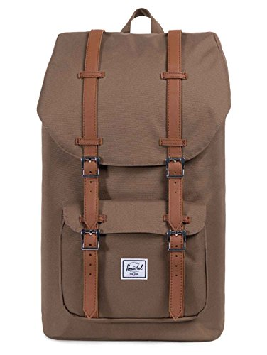Herschel Little America Rucksack, braun, einfarbig, 38,1 cm, Fronttasche, Kordel, 286 mm