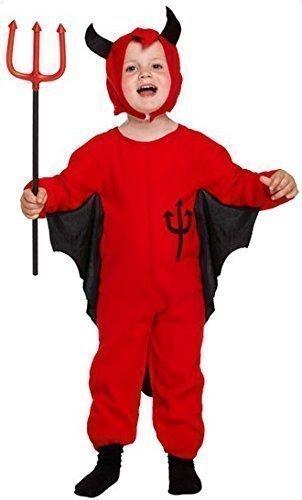 Fancy Me Kleinkind Jungen Roter Teufel Halloween Kostüm Kleid Outfit Alter 3 Jahre (Kleinkind Jungen Teufel Kostüm)