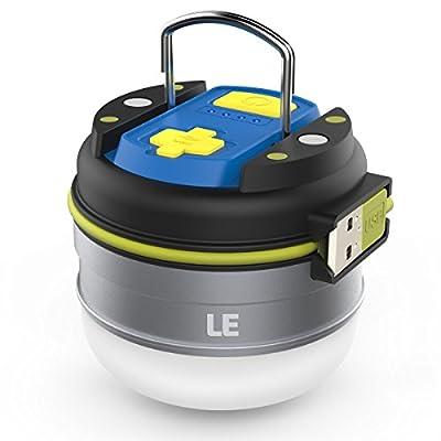LE Campinglampe USB aufladbar IPX4 wasserfest 3000mAh Powerbank neutralweiß 3 Lichtmodi campinglampe mit akku laterne camping outdoor