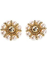 Shenky - Boucles d'oreilles à clips - perles - 40 mm