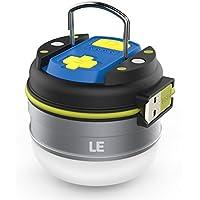 LE Linterna LED Camping USB Recargable, Luz blanca neutra 280lm, Función Powerbank 3000mAh, Resistente al agua IPX4, con Gancho e Imanes