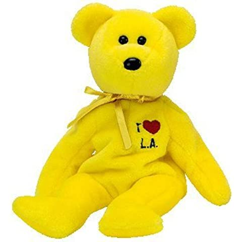 TY L.A. (Los Angeles) The Bear Beanie Baby from the I Love Series by TY~US STATE/CITY BEANIES