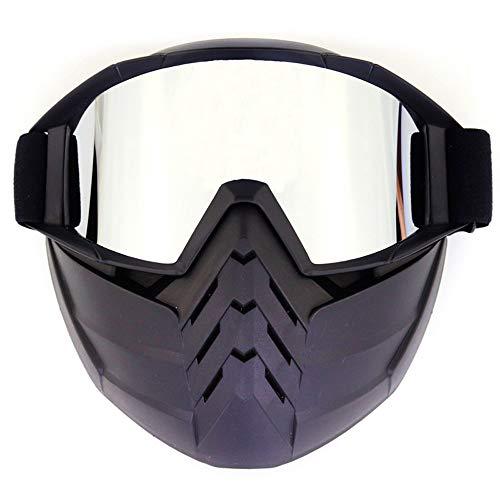 YHBHHW Ritter Gesicht Maske Vintage Gesicht Spiegel Brille Retro volle Gesicht Brille Motocross Brille Wind und Staub Staub Unisex