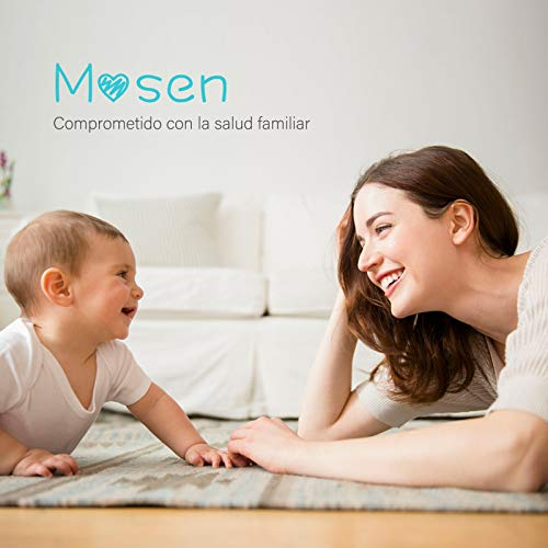 Mosen Termómetro Digital Bebé con Modo Frente y Oído,  Termómetro Infrarrojo Médico Preciso y Rápido,  Alarma de Fiebre,  Multifunción 4 en 1 para Niños Adulto Ambiente y Objetos