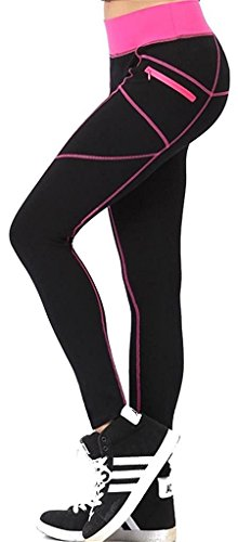 Neonysweets Mujer al Aire Libre Fitness Medias Leggings Apretado Runni