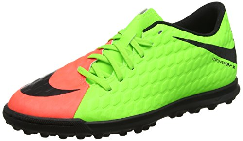 Nike Hypervenomx Phade Iii Tf, Scarpe da Calcio Uomo Verde (Electric Green/black-hyper Orange-volt)