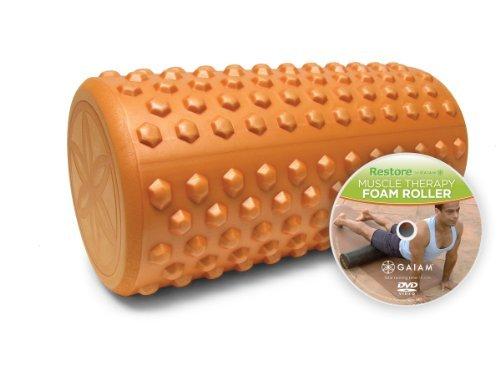 Gaiam Restore 12-Inch Textured Foam Roller w/ DVD by Gaiam