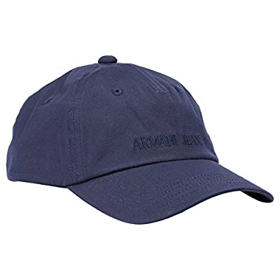 Armani Jeans Embroidered Logo Cap Navy