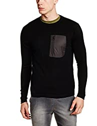 Wrangler Mens Fit Sweater (8907649215920_W248705DH44C_M_Black)