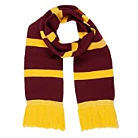 Maroon & Yellow Wizard Scarf Childrens Adults World Book Day Fancy Dress School Boy House Colours Kids Costume