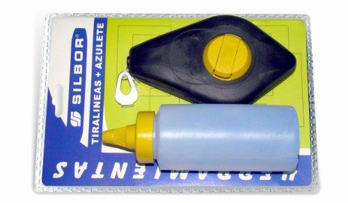 Silbor - Tiralineas plastico 50mt. + bote azulete en bl