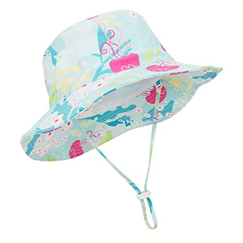 DRESHOW Sonnenhut Summer Beach UPF 50+ Sonnenschutz Baby Boy Hats Kleinkind Sonnenhut Cap für Baby Girl Kid Bucket Hat