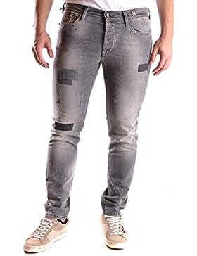 0/Zero Construction Hombre MCBI421001O Gris Algodon Jeans
