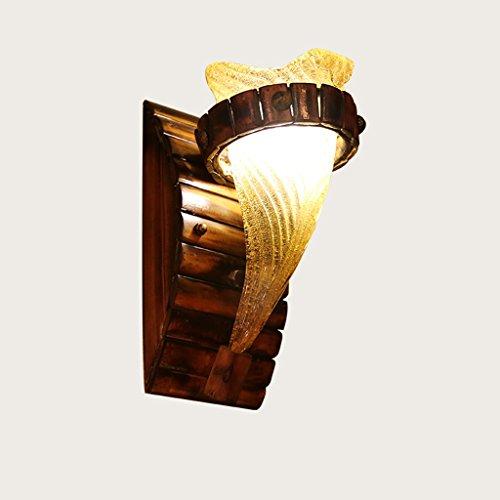age Bambus Wandleuchte Kreative Antike Glas Lampenschirm Wandleuchte Schlafzimmer Nachttischläufer Gang Cafe Scheune Lagerhaus Bauernhaus Restaurant Esszimmer Beleuchtungskörper (Leben Größe Hulk)