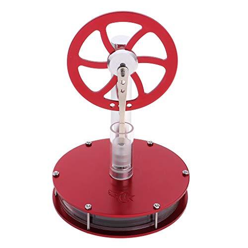 FLAMEER Heißwasser Heißluftmotor Generator Motor Stirlingmotor Kinder Spielzeug - Rot