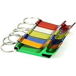 lumanuby metal Llavero con abridor, llavero para llave de coche, hogar Puerta Llave, Empresas Llave, moneda para el carro de la compra