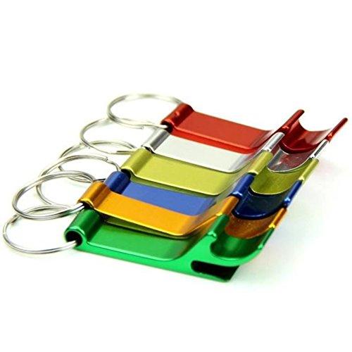 Schlüsselanhänger Flaschenöffner Korkenzieher (Skyeye 5 Stück Multifunktionale Aluminium Anhänger Bier Flaschenöffner Schlüsselanhänger Schlüsselring Schlüssel Anhänger Keychain Zufällige Farbe)