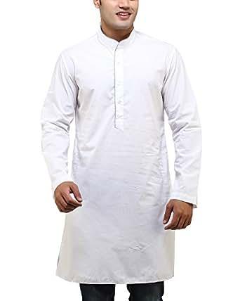 See Designs Men's Cotton Regular Fit Kurta ( Sdmdwss14Kt106_Xs, White, Xs)