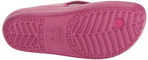 Crocs Wn-Platform Flip, Pantofole Donna Rosso (Berry)