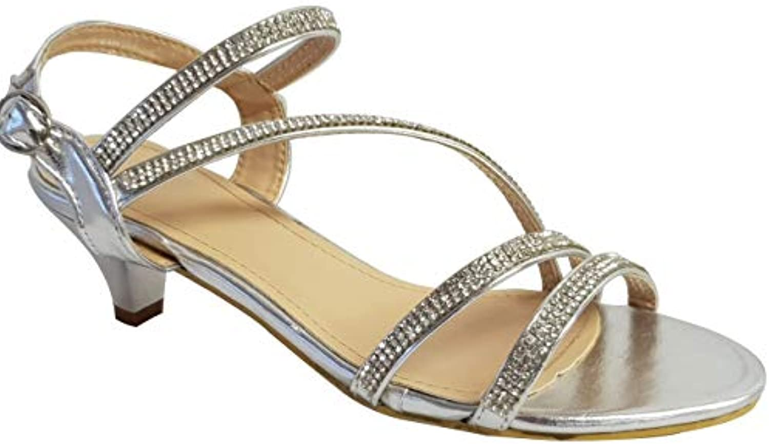 618502f801af6 Skywalker Ladies nhta-27606 Diamante Strappy Low Heel Strappy Prom  B07FPP7FYH Party Wedding Sandals Size 3 to 8 B07FPP7FYH Parent 193a4df