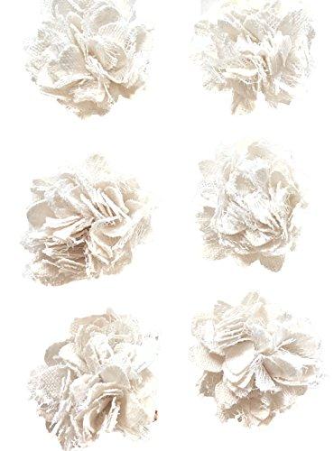 Lace Ruffly Blumen, Verzierungen, Bekleidung, Basteln, 6ct, elegante Blüten & Things ()