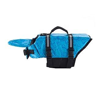 Dog Life Jacket Pet Life Saver Preserver Dog Floatation Vest Easy-Fit Reflective Pet Swimming Clothes Swimwear Swimsuit with Adjustable Belt Blue Pink 41qY85b27bL