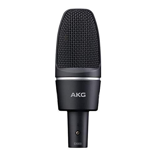 AKG C3000 - Micrófono (Studio, 20-20000 Hz, Cardioid, Alámbrico, Mini XLR (3-pin), 320g) Negro