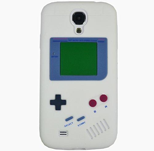 Gameboy Silikon Case Für Samsung Galaxy Apple iPhone Hülle Cover Samsung Galaxy S4 i9500 Gameboy Schwarz Gameboy Weiss + Displayschutzfolie