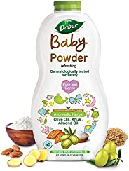 Dabur Baby Powder: No added Talc and Asbestos | Contains Oat Starch , Arrowroot Powder & Amba Haldi |Hypoa