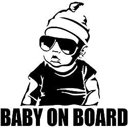 jiuyaomai Bébé À Bord Créatif De Mode Autocollant De Voiture Commutateur Autocollant Vinyle Art Amovible Affiche Mura Mignon Décor Stickers45x45cm