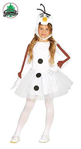 Guirca Kostüm Schneemann Olaf 5-6 Jahre, Farbe Weiß, 41628