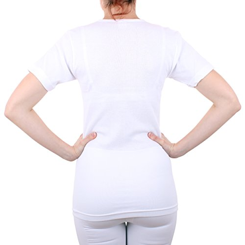 2er Pack Damen Unterhemd mit Spitze Feinripp aus 100% Baumwolle kurzarm (Top, T-Shirt, Oberteil) Nr. 326/516 - 3