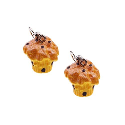 Snykk Muffin-Ohrringe - 2 Stück – Schoko-Muffin