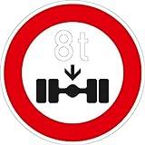 Verkehrszeichen VZ263, Verbot für Fahrzeuge über... Achslast, Alu, RA1, Ø 42cm Verkehrsschild