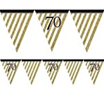 Creative Party Black And Gold Milestone Paper Flag Bunting
