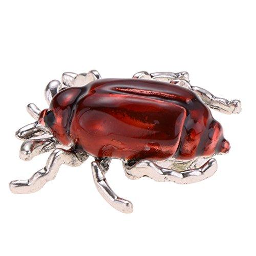 Baoblaze 1 Stück Insekt form Brosche klassische Käfer Brosche Marienkäfer Brosche für Kostüm Party - rot (Kostüm Marienkäfer Einfach)