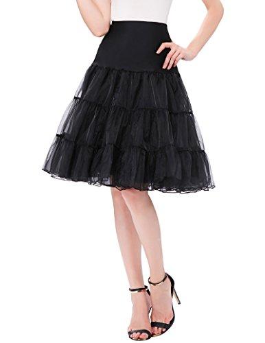 Petticoat Rock Schwarz 1950er Vintage, Bräute oder Brautjungfer Rock - 2