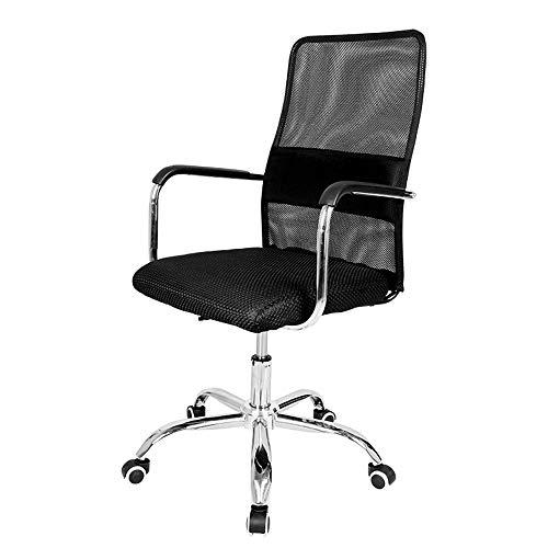 XIA&Tabourets Chaise de bureau Chaises de bureau en maille avec accoudoirs et support dorsal - Chaise d'ordinateur pivotante ergonomique pour bureau à domicile avec jeu, noir