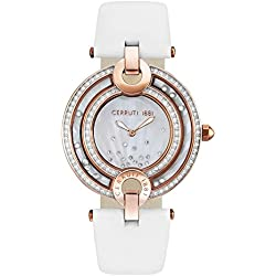 Cerruti Ladies Watch with Genuine Leather Strap CRM05 4SR28WH
