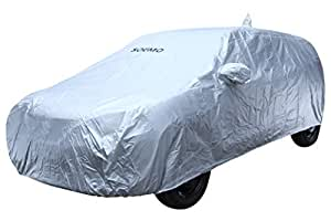 Amazon Brand - Solimo Maruti Suzuki Baleno UV Protection & Dustproof Car Cover (Silver)
